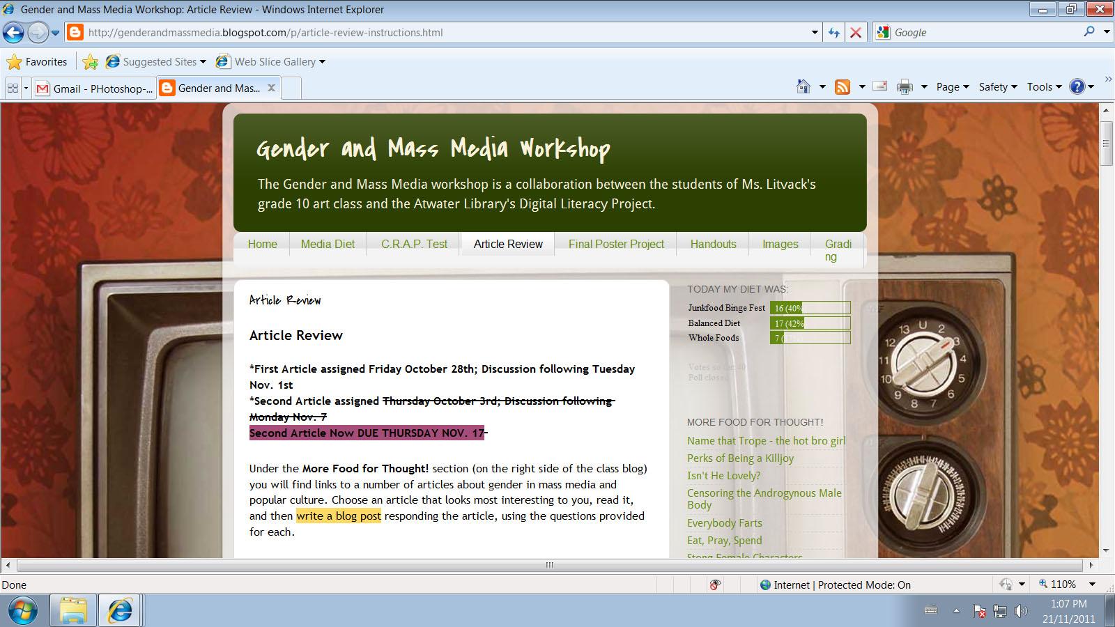 gender and mass media